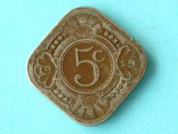 1929 - 5 CENTS / KM 153 ( For Grade, Please See Photo ) ! - [ 3] 1815-… : Kingdom Of The Netherlands