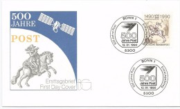 Allemagne RFA 1990 1277 FDC Albrecht Dürer Le Petit Cavalier De La Poste Cheval Horses - Cavalli