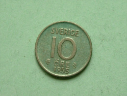 1955 TS - 10 ORE / KM 823 ( Uncleaned Coin - For Grade, Please See Photo ) !! - Suède