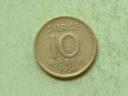 1954 TS - 10 Ore / KM 823 ( Uncleaned - For Grade, Please See Photo ) ! - Suède