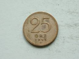 1943 G - 25 ORE / KM 816 ( Uncleaned Coin / For Grade, Please See Photo ) !! - Suède