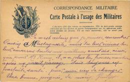 Militaria - Guerre 1914-18 - Régiments - Franchise Militaire - Carte 2 Volets - Ad. Direction Service Santé 1er C.AC - Guerra 1914-18