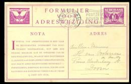 ADRESWIJZIGING VOORDRUK Gelopen In 1930 Van ROTTERDAM Naar DOORN  (9798c) - Postwaardestukken