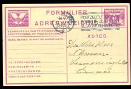 ADRESWIJZIGING VOORDRUK Gelopen In 1933 Van HAARLEM Naar ENSCHEDE    (9798g) - Postwaardestukken