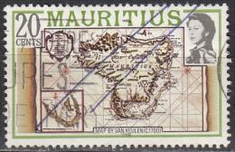 Mauritius, 1978 - 20c Map By Van Keulen - Nr.446 Usato° - Mauritius (1968-...)