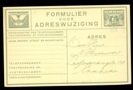 ADRESWIJZIGING VOORDRUK Gelopen In 1939 Van NIJMEGEN Naar ENSCHEDE  * (9798j) - Postwaardestukken