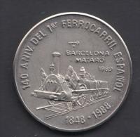 1989-MN-9  CUBA. 1989. 1$. 140 ANIV FERROCARRIL BARCELONA- MATARO. RAILROAD. TRAIN.  CU-NI. - Cuba