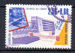 FRANCE. N�2689 oblit�r� de 1991. Journ�e du Timbre/Tri postal.