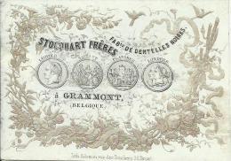 Grammont - Stocquart Fr�res - Fabts de Dentelles Noires. Porceleinkaart.