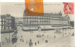 MONTPELLIER - Place De La Comédie . Rue De La Loge , Bon état ( Voir Scan ) - Montpellier