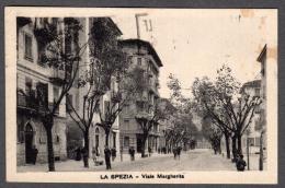 1936 LA SPEZIA VIALE MARGHERITA FP V SEE 2 SCANS ANIMATA TARGHETTA - La Spezia