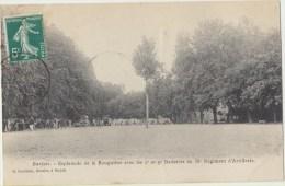 Cpa  83 Var Barjols Esplanade De La Rouguiere  Avec Le 2e Et 9e Batteries Du 38e Regiment D Artillerie - Barjols