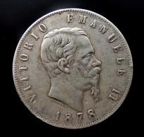 5 LIRE 1878   R    ARGENT SILVER  QUALITE - 1861-1946 : Regno