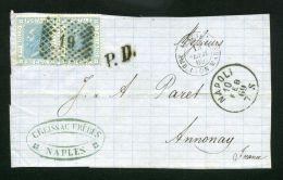 ITALIE  : Y&T N° 23 SUR GRAND FRAGEMENT, TRES BELLE OBLITERATION , C A D  DU 10 FEVRIER 1869 , A   VOIR  .