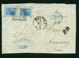 ITALIE  : Y&T N° 23 SUR GRAND FRAGEMENT, TRES BELLE OBLITERATION , C A D  DU 8 DECEMBRE 1871 , A   VOIR  .
