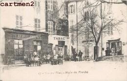 SIGNES PLACE DU MARCHE CAFE DE FRANCE TABAC + CACHET 112e REGIMENT D'INFANTERIE CAMP DE CHIBRON GUERRE VAR - France