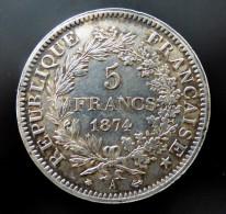 5 FRANCS  1874 A     ARGENT SILVER QUALITE - Francia