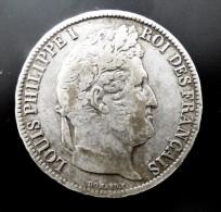 5 FRANCS  1831  W TRANCHE RELIEF  ARGENT SILVER QUALITE - Francia
