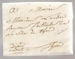 """L. Datée De Charleroy An 13 Avec Manuscrit """"Dupire / Contrôleur"""" Pour Thuin - 1794-1814 (Période Française)"""