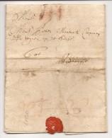 """L. 1709 Datée D'Eecloo Avec à La Craie Rouge """"III"""" + Au Dos """"Eecloo"""" (non Repris Chez Herlant) Pour Bruges. RR - 1621-1713 (Pays-Bas Espagnols)"""