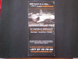 MONACO GP F 1 MONTE CARLO INTINERARIO PROGRAMMA GRAN PREMIO FORMULA 1 MONTE CARLO 2006 MUCH RARE !! - Car Racing - F1