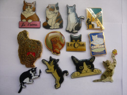 12 Pin S Chat - Animaux