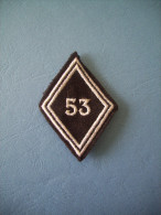 LOSANGE MODELE 1945 / TRANSMISSIONS / ALLEMAGNE / 53° RCT - Ecussons Tissu