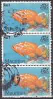 Mauritius, 2000 - 1r Cephalopholis Sonnerati, Blocco Di Tre - Nr.911 Usato° - Mauritius (1968-...)