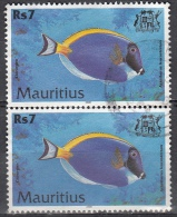 Mauritius, 2000 - 7r Acanthurus Leucosternon, Coppia - Nr.917 Usato° - Mauritius (1968-...)