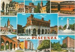 A3326 Saluti da Piacenza - Panorama - Vedute - Multipla / viaggiata 1971