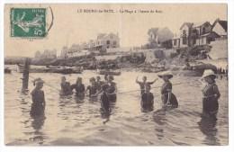BATZ Sur MER  - La Plage à L'Heure Du Bain.  Belle Carte. - Batz-sur-Mer (Bourg De B.)