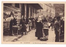 QUIMPER  - Le Marché Aux Poissons. Très Beau Plan - Quimper