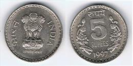 INDIA 5 RUPIAS RUPEES 1997 - India