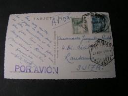 == Spain Alicante Ca. 1950 - 1951-60 Briefe U. Dokumente