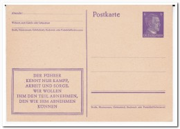 Propagandapostkarte Ungebraucht, Der Führer Kennt Nur Kampf - Briefe U. Dokumente