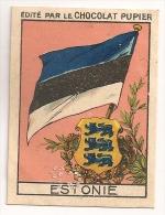 """Image Page 24 De L´album """"L´Europe"""". 1933. Chocolat Pupier. Estonie. Drapeau Armoiries - Other"""