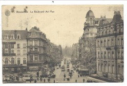 ///  CPA - BRUSSEL - BRUXELLES - Le Boulevard Ad. Max - Tram    // - Avenues, Boulevards