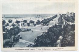 SAN BENEDETTO DEL TRONTO - VEDUTA DEL LUNGOMARE E SPIAGGIA BALNEARE  1947 - Ascoli Piceno