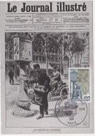 CARTE MAXIMUM  JOURNEE DU TIMBRE  1978         RELEVAGE DU COURRIER  A PARIS EN 1900