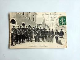 Carte Postale Ancienne : 8e CUIRASSIERS : Fanfare Du Régiment, TOURS - Caserme