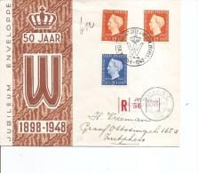Indes Néérlandaises ( FDC De 1948 Voyagé En Recommandé Vers Les Pays-Bas à Voir) - Nederlands-Indië