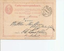 Suisse ( Carte -correspondance De 1873 De Affoltern Vers L'intérieur à Voir) - Briefe U. Dokumente