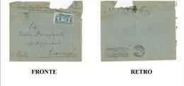 BUSTA SOCIETE ANONYME BANQUE ET DE COMMERCE – AJACCIO VIAGGIATA 1928 VERSO LIVORNO DIMENSIONI CM 12x15 CONDIZIONI DISCRE - Storia Postale