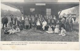 Littleton Massachusetts, Railroad Depot Train Station, C1900s Vintage Postcard - Stati Uniti