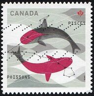 Canada - Scott #2460  Signs Of The Zodiac, Pisces (*) / Used Stamp - Astrology