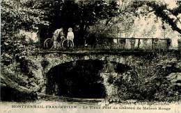 Belle  CPA   -  Montfermeil -  Franceville -  Le Vieux Pont Du Château De Maison Rouge             F357 - Montfermeil