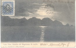 CABO PILAR ESTRECHO DE MAGALLANES DE NOCHE ENVIADO POR MANUEL VEGA A QUINTILIANO DIEZ FARMACIA NACIONAL EN 1922 - Chili