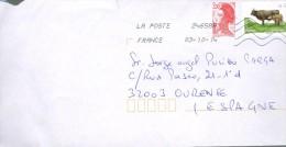 FRANCE  LETTRE 2014 COW  LA CASTA GANDERY - France