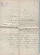 Décision De La Justice De Paix Du 5.3.1932, Constitution D'un Conseil De Famille Et Autorisation Pour Succession - Manuscrits