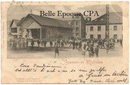 68 - SOUVENIR De MULHOUSE - Fonderie - Sortie Des Ouvriers à Midi +++++ Ch. Baby, édit., Mulhouse +++++ 1898 +++++ RARE - Mulhouse